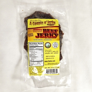 front of spicy jerky bag